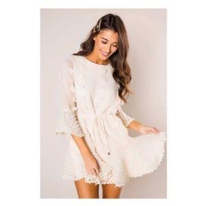 Cream textured dress